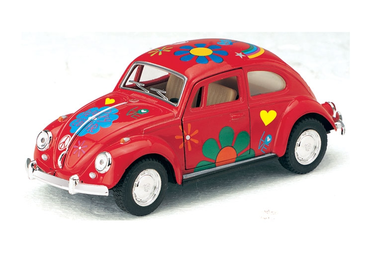 1:32, VW Beetle Flower-67 RÖD